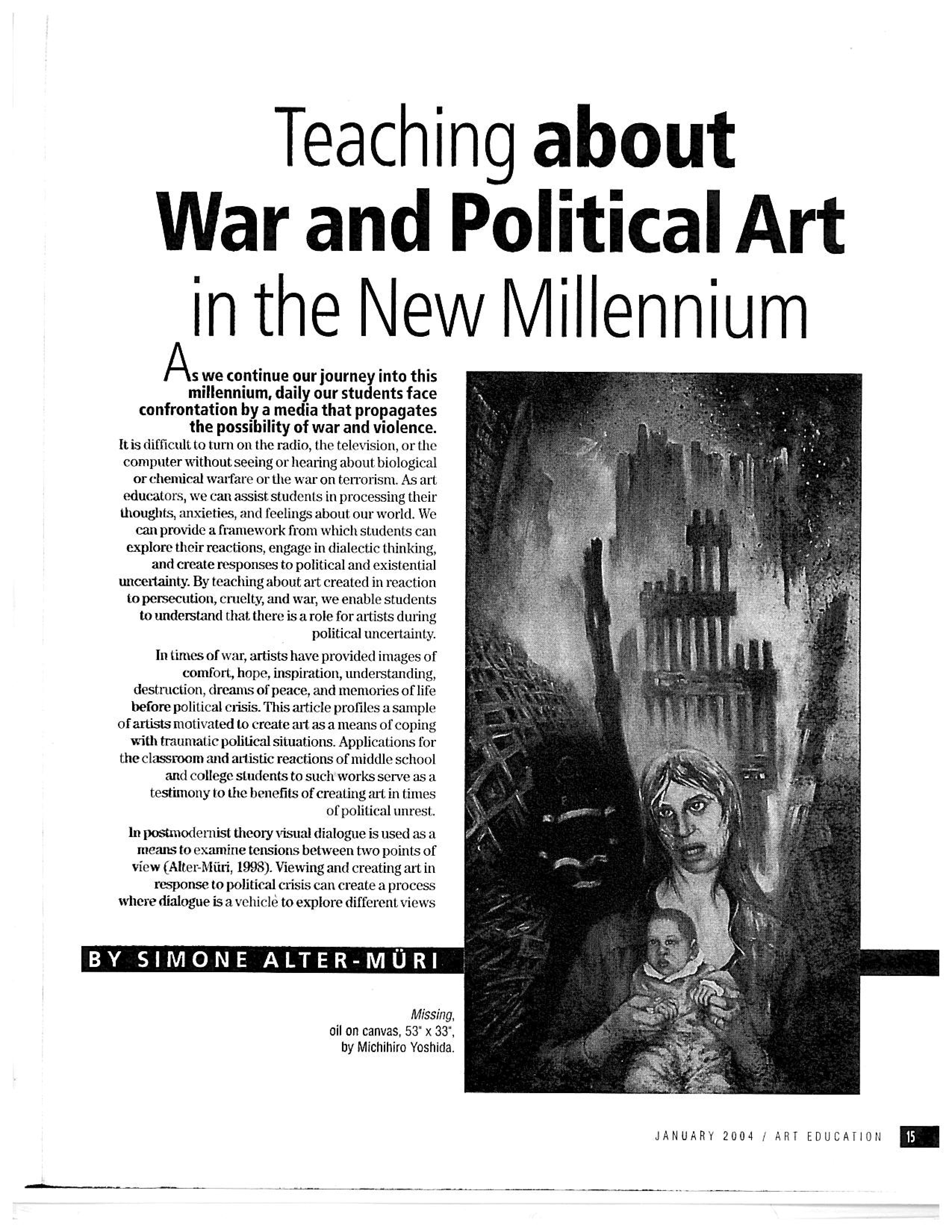 Teaching About War & Political Art